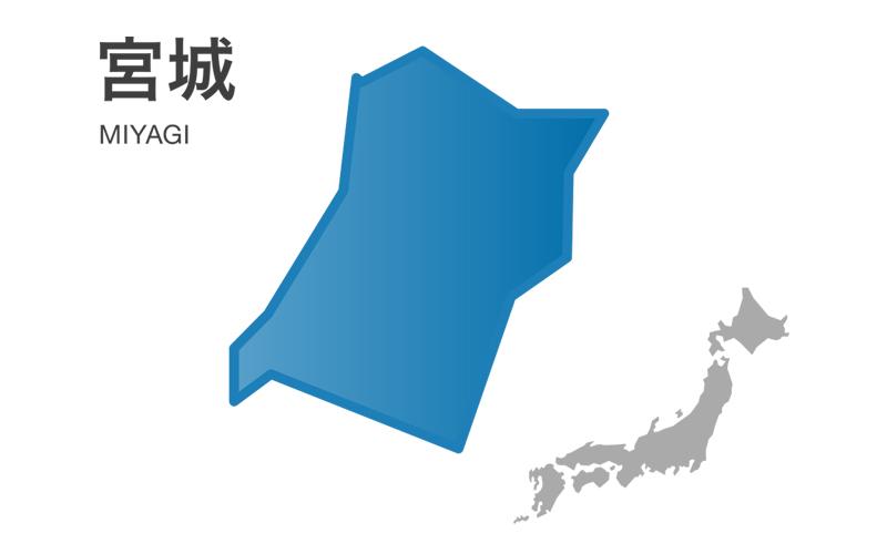 宮城県地図